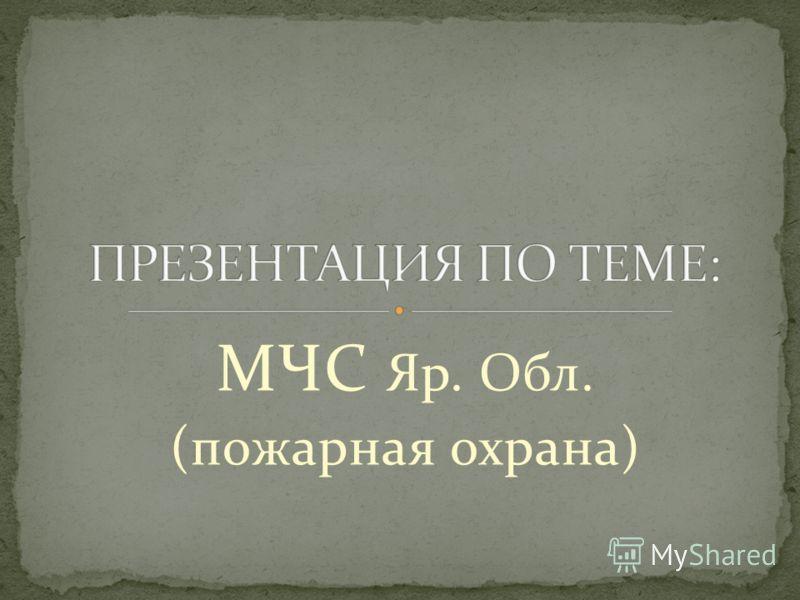 МЧС Яр. Обл. (пожарная охрана)