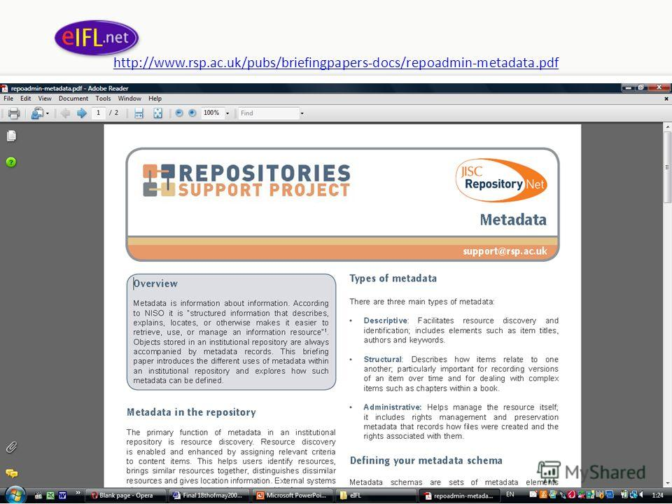 http://www.rsp.ac.uk/pubs/briefingpapers-docs/repoadmin-metadata.pdf