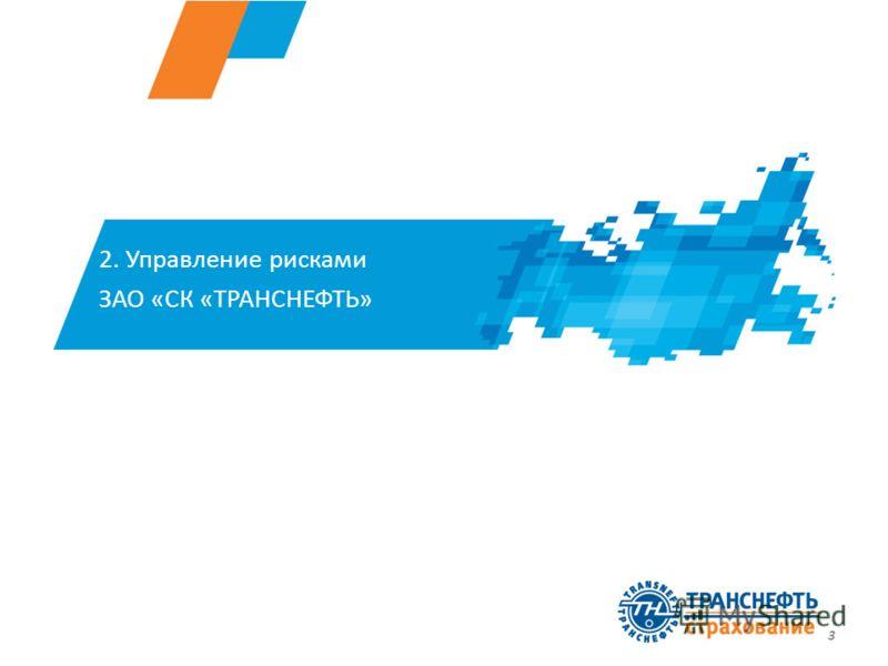 3 2. Управление рисками ЗАО «СК «ТРАНСНЕФТЬ»