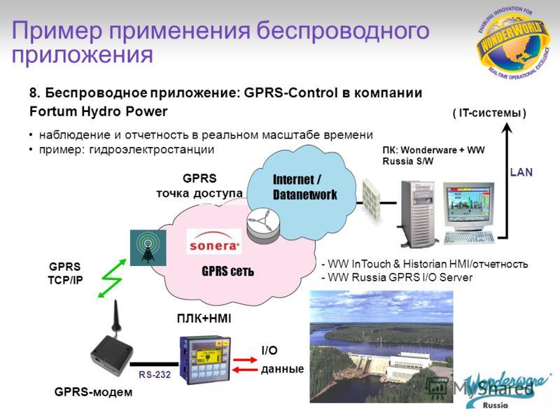 Finn-Power (Prima Industrie), Финляндия/Италия, поставляет машины для обработки листового металла на глобальные рынки пакет GSM-Control – часть поставки оборудования применяется для отдельных машин, текстовые сообщения обеспечивают оперативную информ