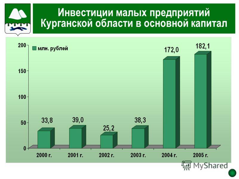 Инвестиции малых предприятий Курганской области в основной капитал