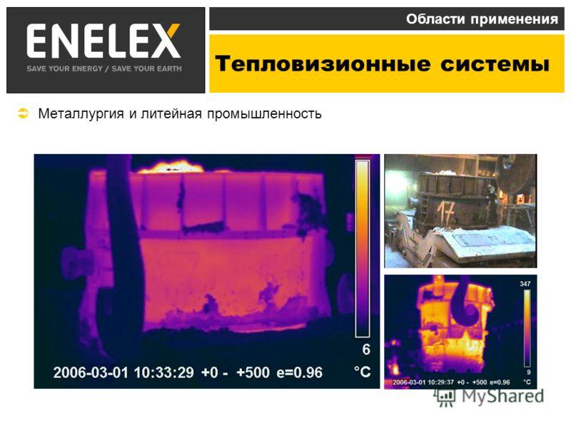 Тепловизионные системы Области применения Металлургия и литейная промышленность
