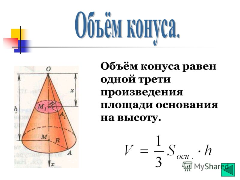 Объём наклонной призмы равен произведению площади основания на высоту
