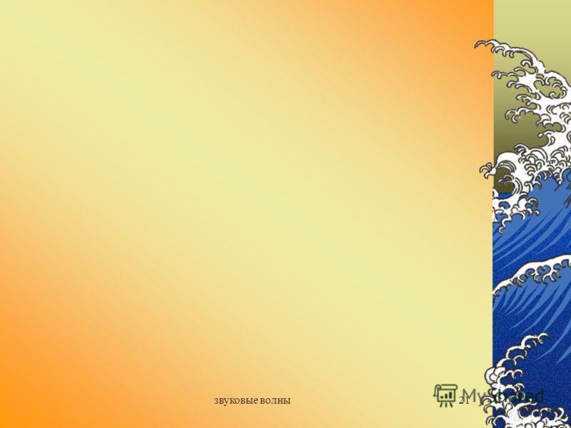 звуковые волны20 Домашнее задание: П. 33, 34, 35 Сообщения: «Ультразвук и его применение» «Инфразвук и его применение»