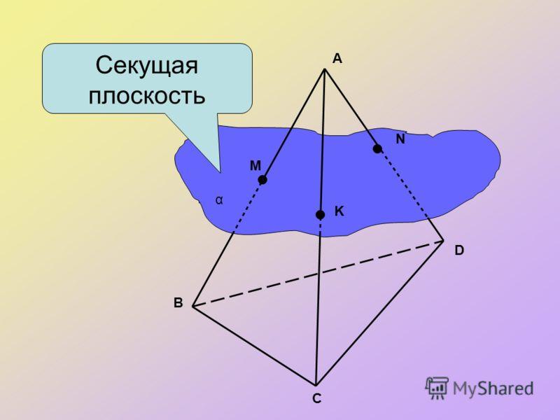 Определение сечения. Секущей плоскостью многогранника назовем любую плоскость, по обе стороны от которой имеются точки данного многогранника. Секущая плоскость пересекает грани многогранника по отрезкам. Многоугольник, сторонами которого являются эти