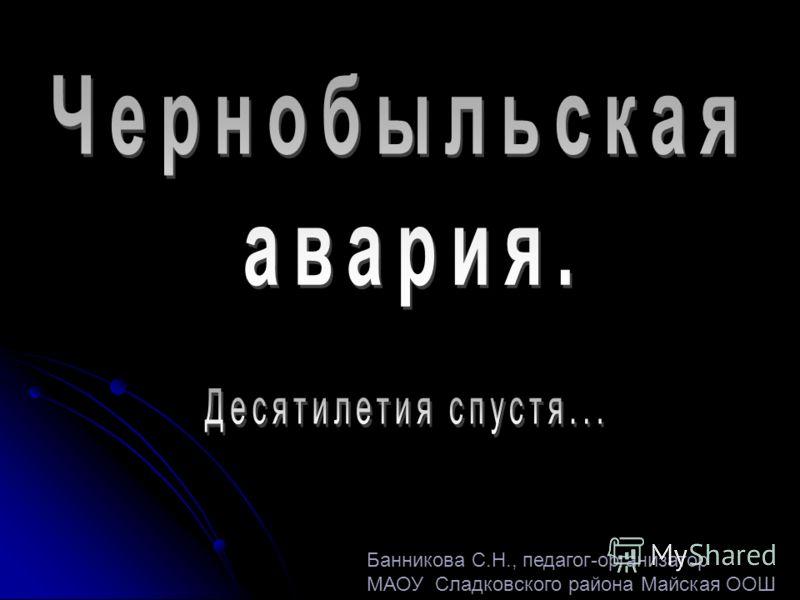 Банникова С.Н., педагог-организатор МАОУ Сладковского района Майская ООШ