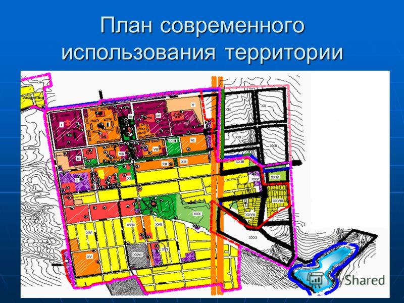 План современного использования территории