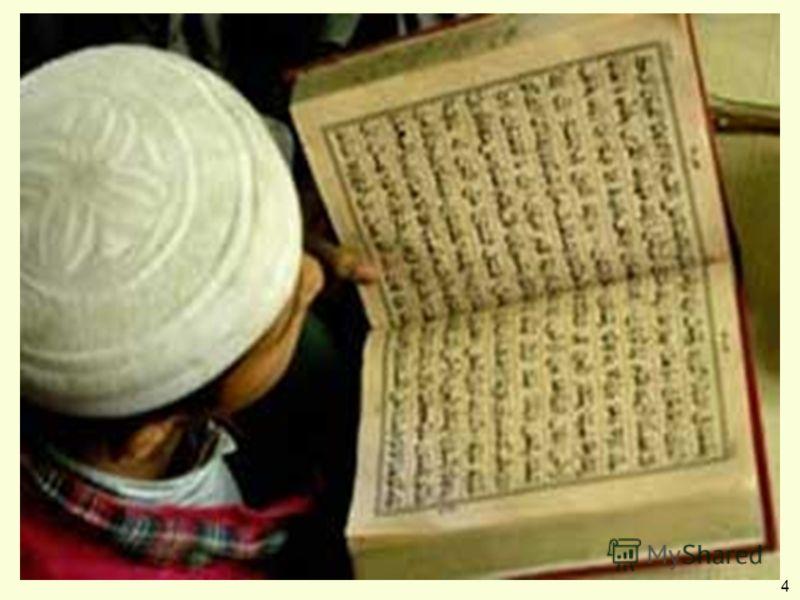 Коран (священная книга) Ангел Джабраил Сура – глава Аят – стих Сунна (священное предание) 4