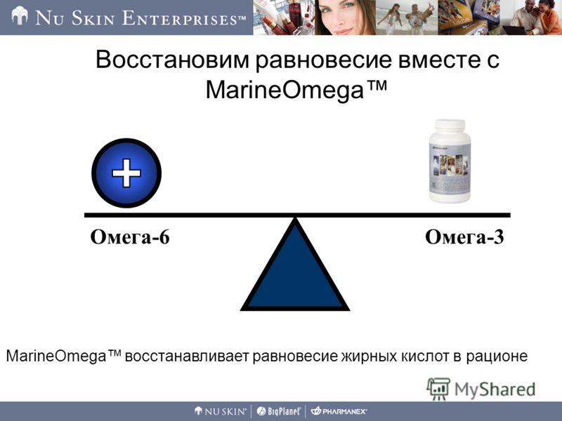 Восстановим равновесие вместе с MarineOmega Омега-6Омега-3 MarineOmega восстанавливает равновесие жирных кислот в рационе