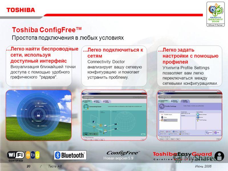 Июнь 200619/Tecra A8 Почему следует выбрать Tecra A8? 1 2 3 4 Безупречное качество – никаких забот Легко справляется с каждо- дневными задачами бизнеса Максимум отдачи на ваши инвестиции Впечатляющая производительность в бизнес-приложениях Превосходн