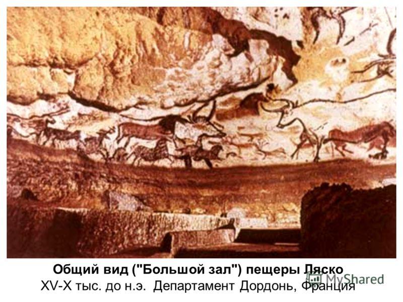Общий вид (Большой зал) пещеры Ляско XV-X тыс. до н.э. Департамент Дордонь, Франция