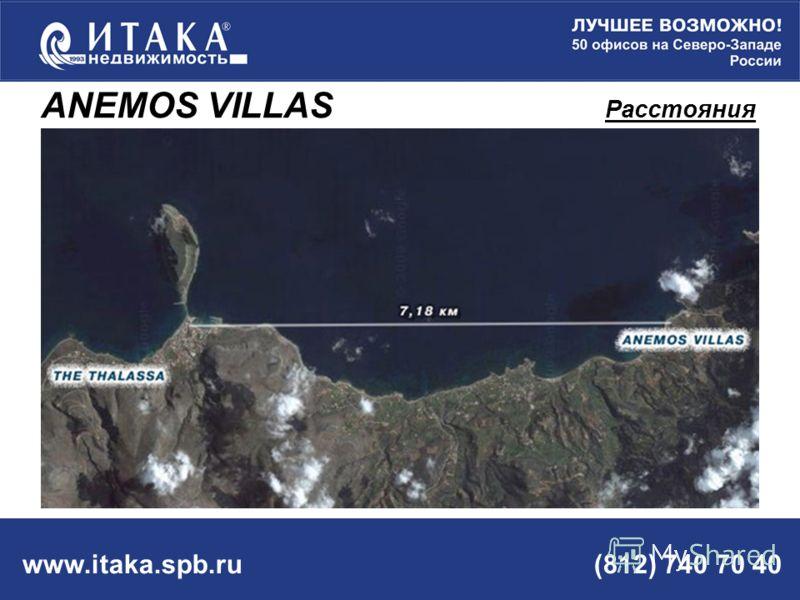 www.itaka.spb.ru (812) 740 70 40 ANEMOS VILLAS Расстояния