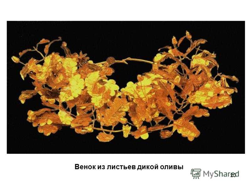 20 Венок из листьев дикой оливы