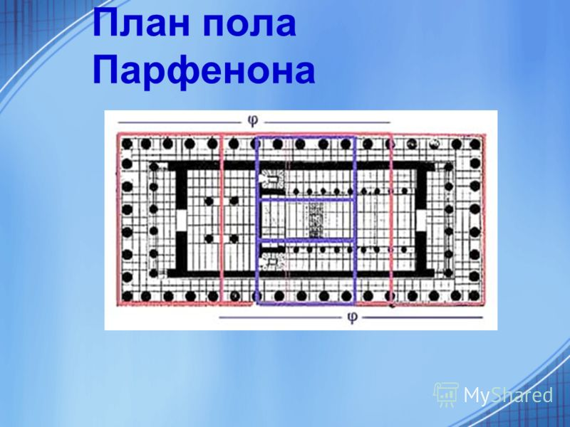 План пола Парфенона
