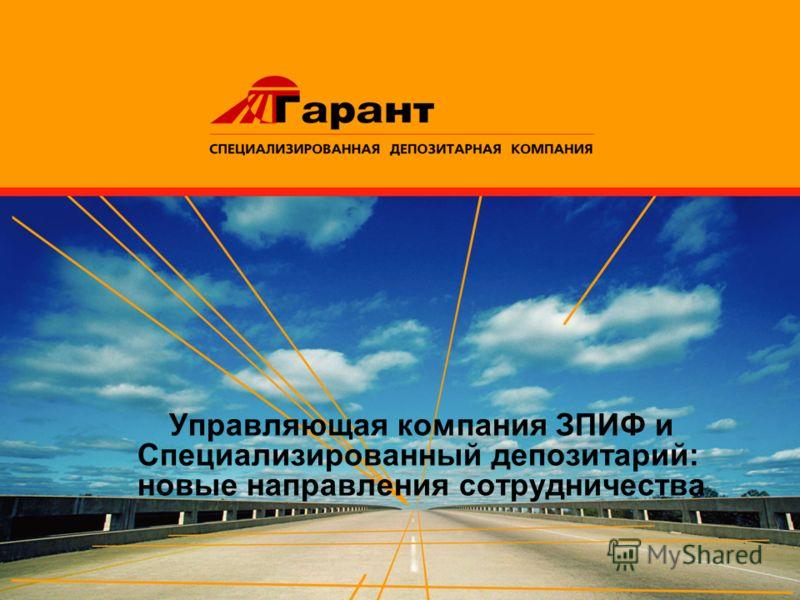 Управляющая компания ЗПИФ и Специализированный депозитарий: новые направления сотрудничества