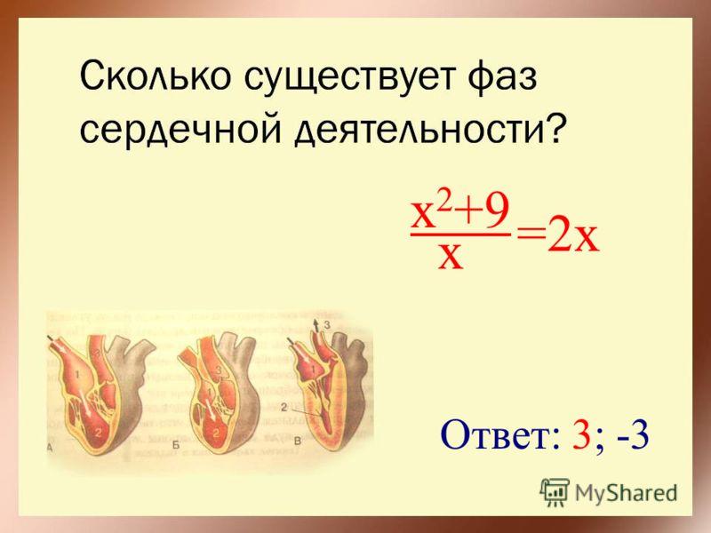 x 2 +9 x =2x Ответ: 3; -3