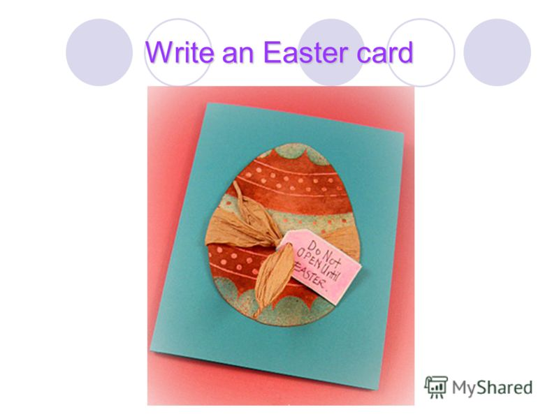 Write an Easter card