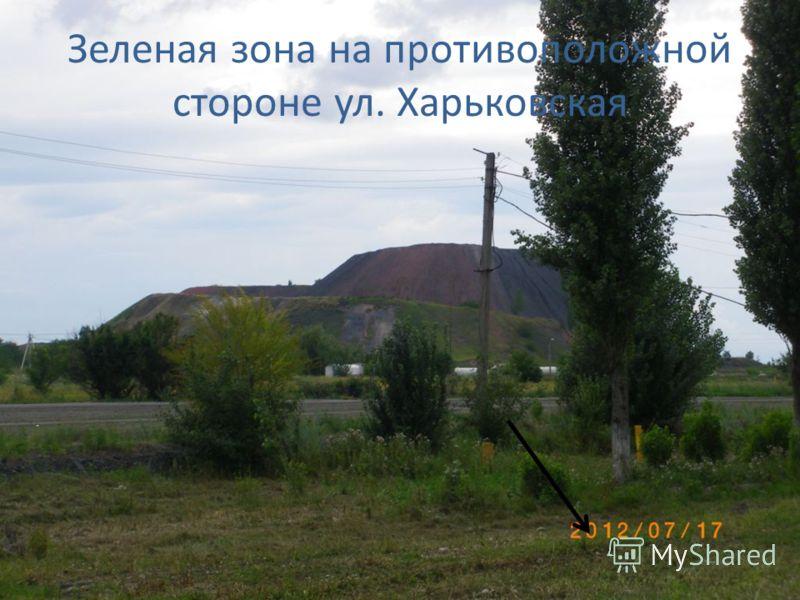 Зеленая зона на противоположной стороне ул. Харьковская