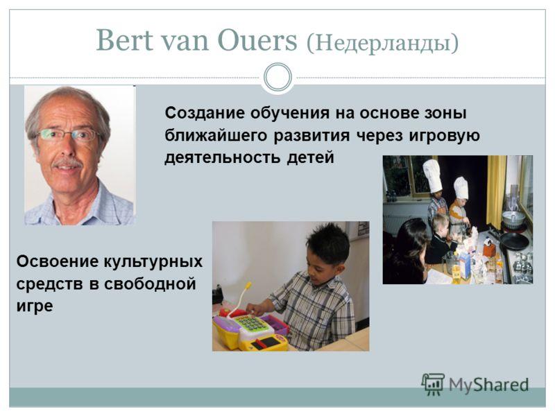Bert van Ouers (Недерланды) Создание обучения на основе зоны ближайшего развития через игровую деятельность детей Освоение культурных средств в свободной игре