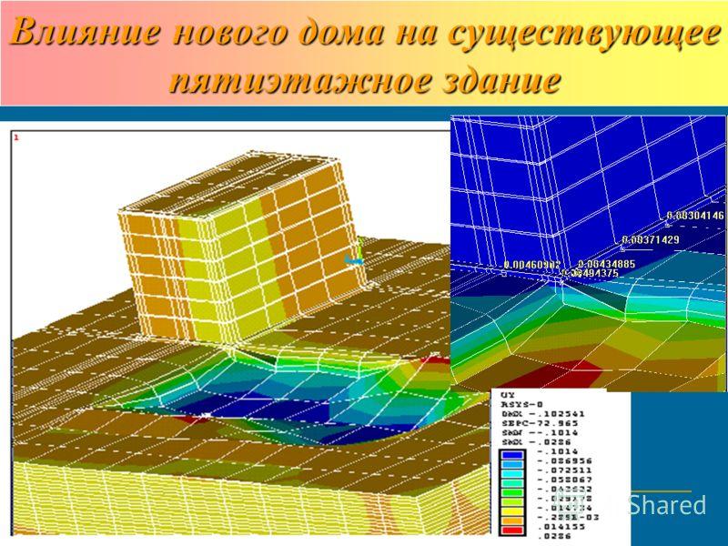 Влияние нового дома на существующее пятиэтажное здание