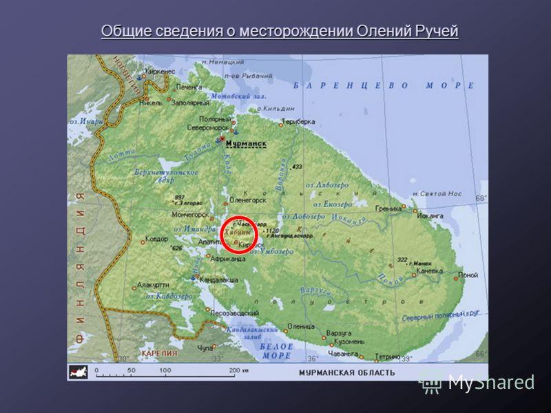 Общие сведения о месторождении Олений Ручей