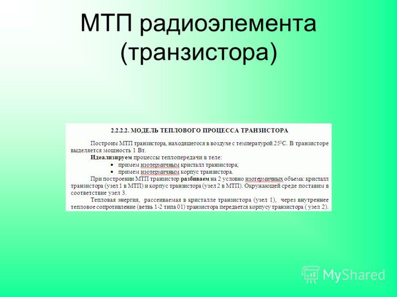 МТП радиоэлемента (транзистора)