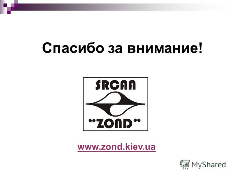 www.zond.kiev.ua Спасибо за внимание!