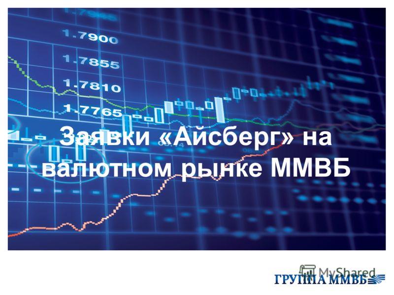 Заявки «Айсберг» на валютном рынке ММВБ