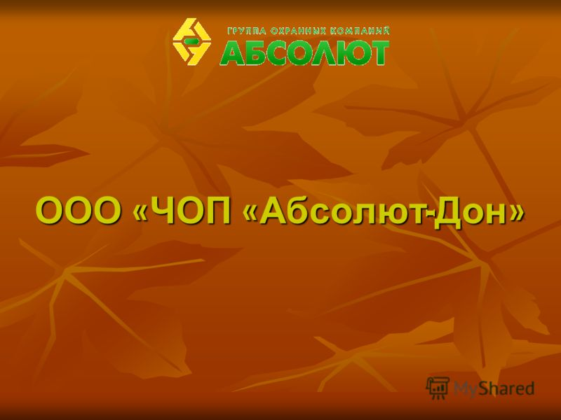 ООО « ЧОП « Абсолют - Дон »