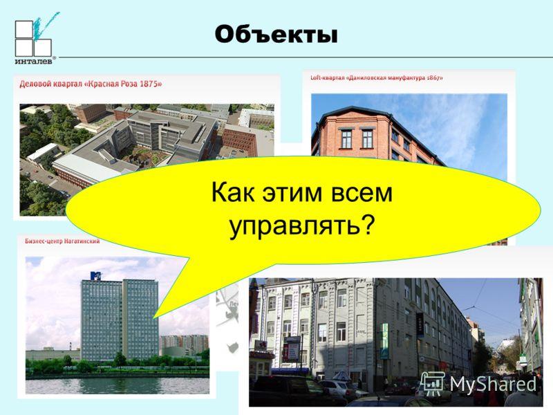 www.intalev.com Объекты Как этим всем управлять?