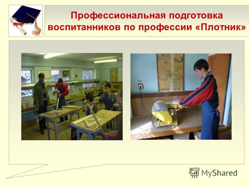 Профессиональная подготовка воспитанников по профессии «Плотник»