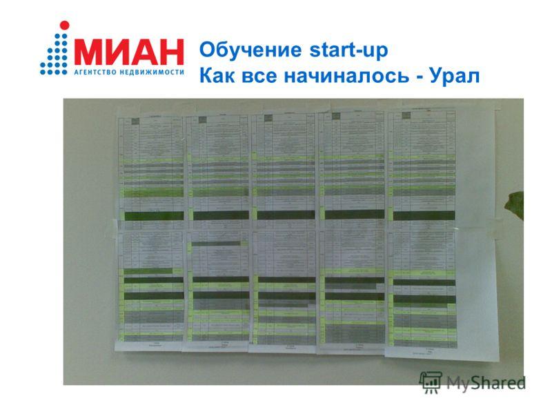 Обучение start-up Как все начиналось - Урал