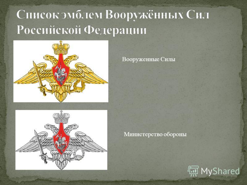 Вооруженные Силы Министерство обороны