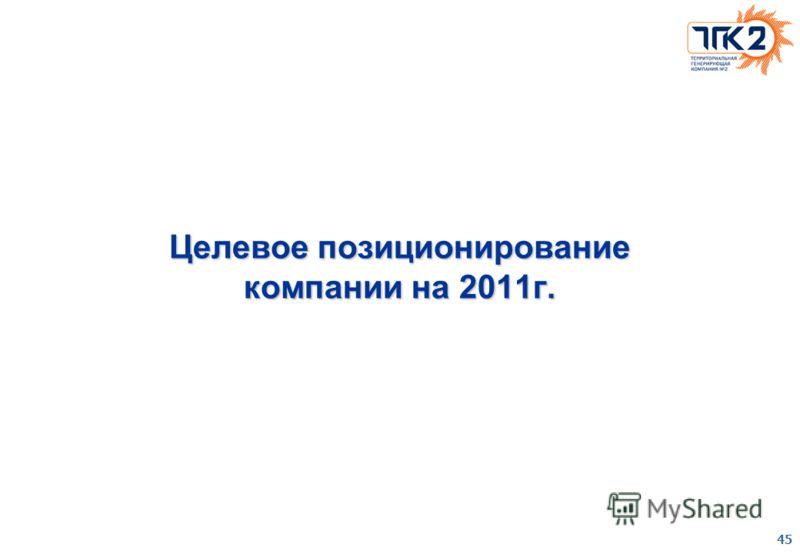 45 Целевое позиционирование компании на 2011г.