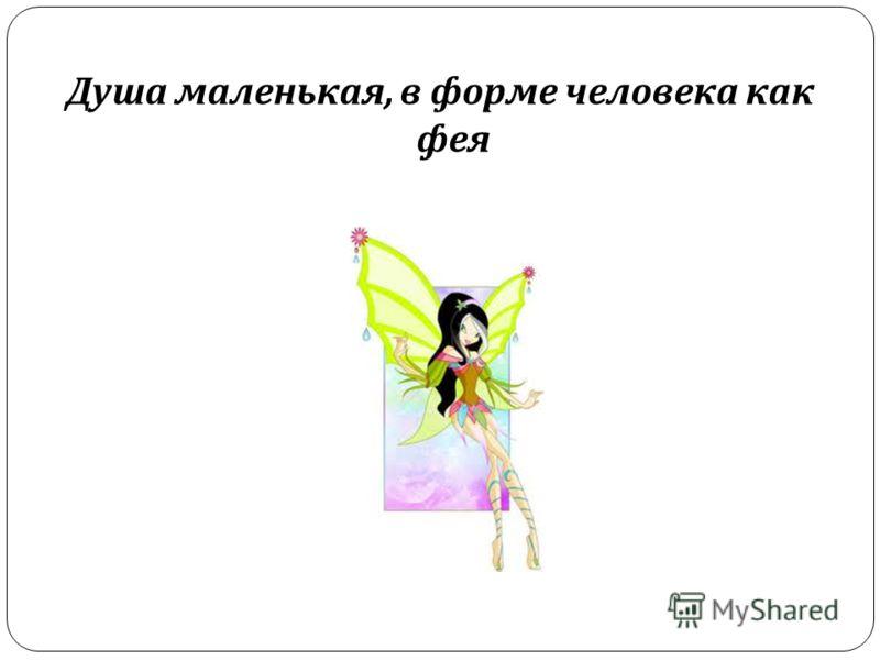 Душа маленькая, в форме человека как фея