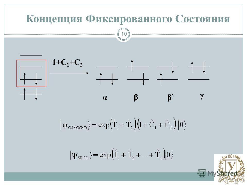 10 1+C 1 +C 2 α Концепция Фиксированного Состояния β γ β`β`