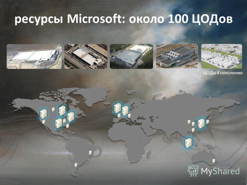 ЦОДы 4 поколения ресурсы Microsoft: около 100 ЦОДов