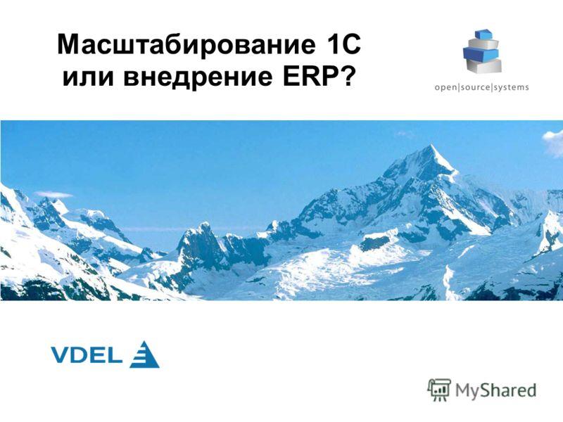 Масштабирование 1С или внедрение ERP?