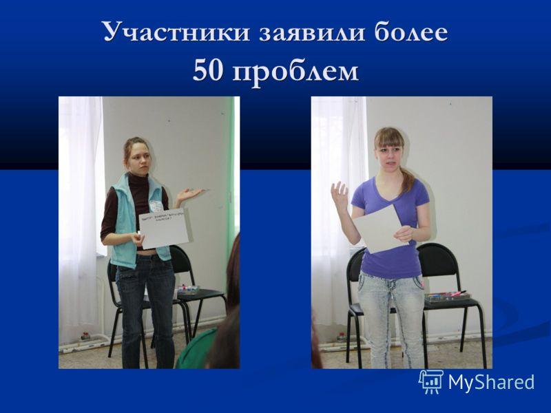 Участники заявили более 50 проблем
