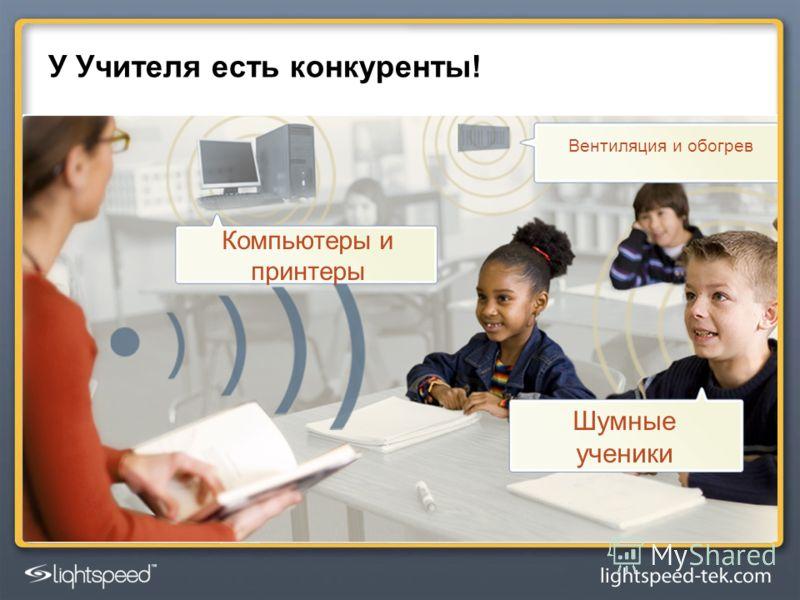 У Учителя есть конкуренты! Вентиляция и обогрев Компьютеры и принтеры Шумные ученики