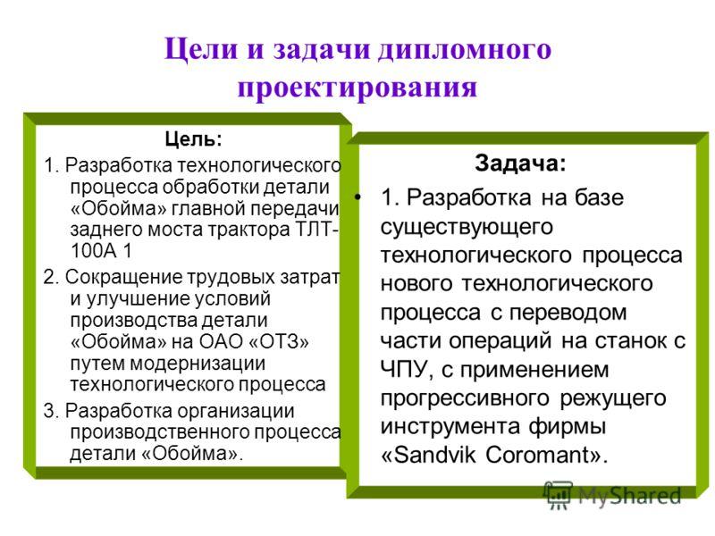 Презентация на тему Министерство науки и образования Российской  4 Цели и задачи дипломного проектирования