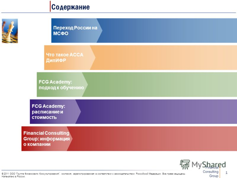 FCG Academy: Подготовка к экзамену по международному стандарту финансовой отчетности АССА ДипИФР 6 декабря 2011 г.
