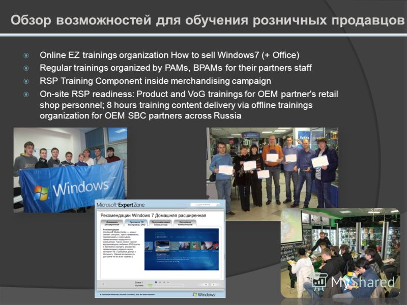 Обучающий портал для розничных продавцов Description Training portal Microsoft Expert Zone (http://expertzone.microsoft.com) is the on-line resource for RSPs to be educated on all Microsoft consumer productshttp://expertzone.microsoft.com Each traini