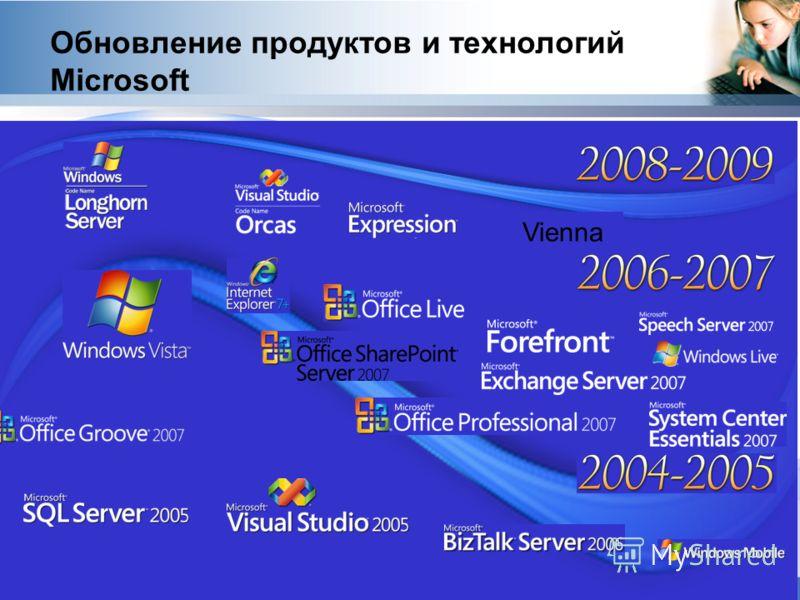 Vienna Обновление продуктов и технологий Microsoft