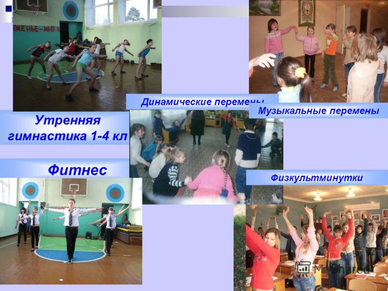 Утренняя гимнастика 1-4 кл Фитнес Динамические перемены Музыкальные перемены Физкультминутки