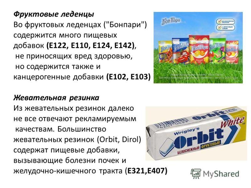 Фруктовые леденцы Во фруктовых леденцах (