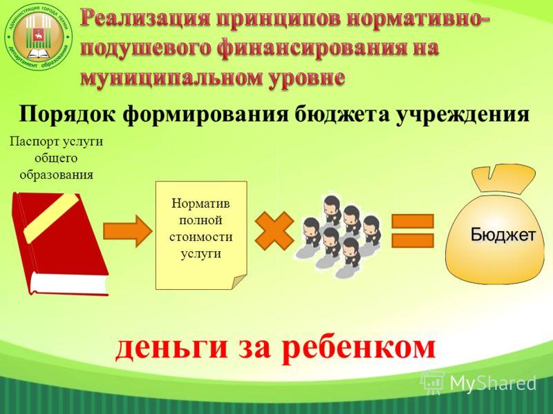 деньги за ребенком Бюджет Паспорт услуги общего образования Норматив полной стоимости услуги