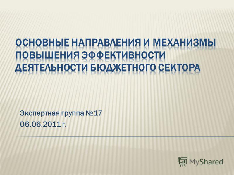 Экспертная группа 17 06.06.2011 г.