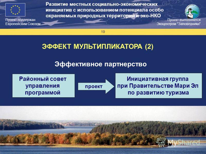 Проект поддержан Европейским Союзом 19 Проект выполняется Экоцентром