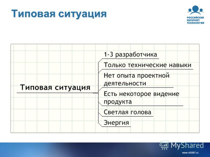 www.rit2007. ru Типовая ситуация